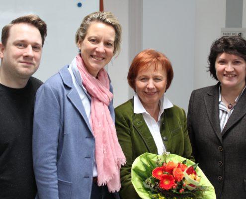 von links: SPD-Neu-Mitglied Jens Edler, Ortsvereinsvorsitzende