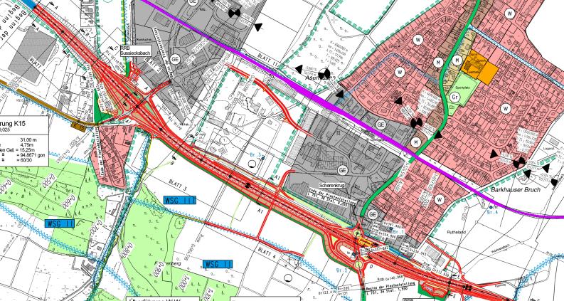 Plan der B66 in Asemissen