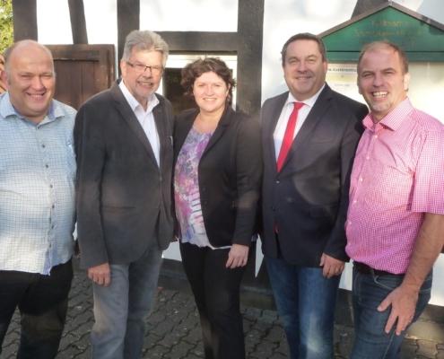 v.l.n.r. Andreas Brinkmann, Gerhard Schemmel, Ellen Stock, Dr. Axel Lehmann, Ralf Grünert